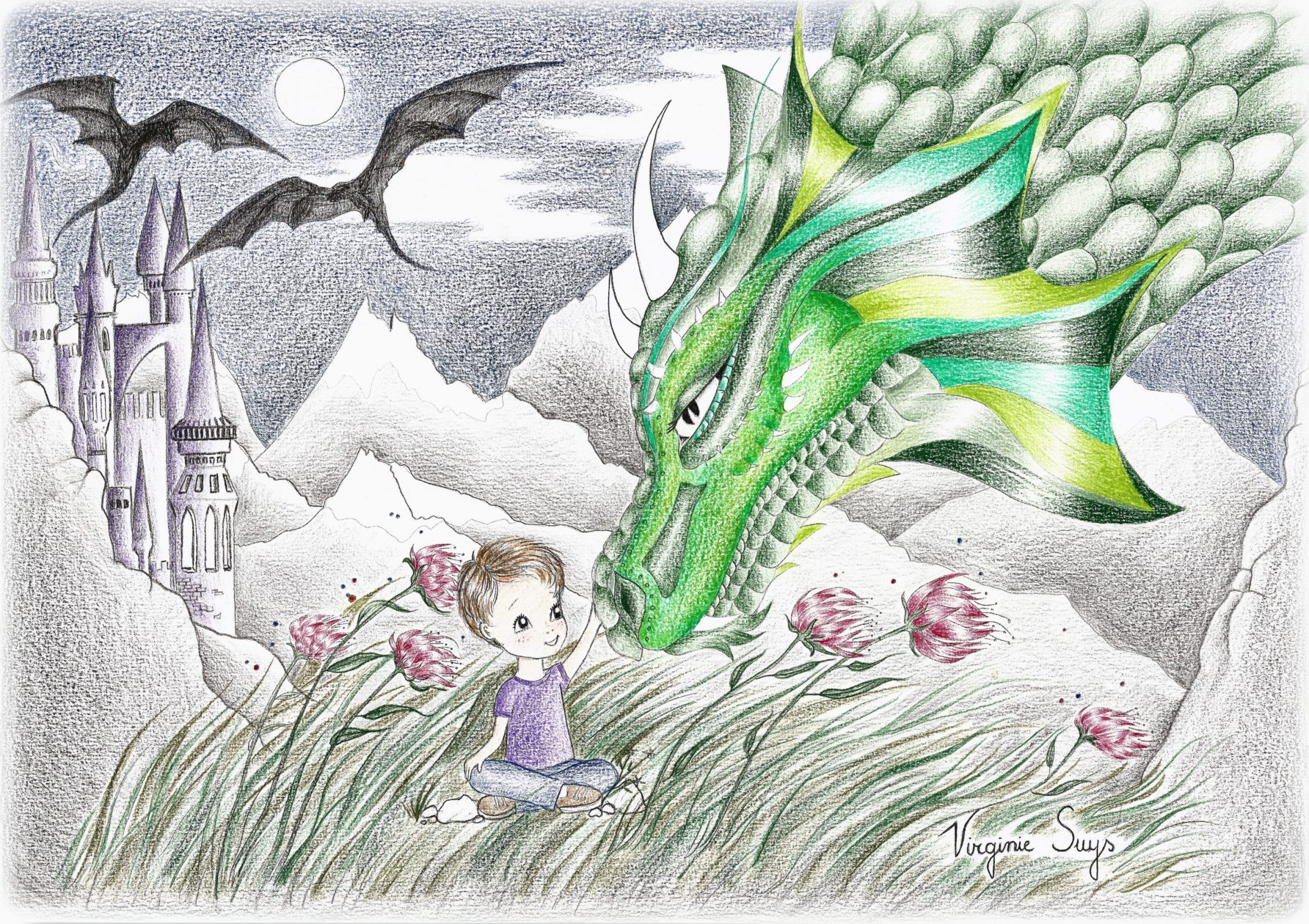 Boy with green dragon