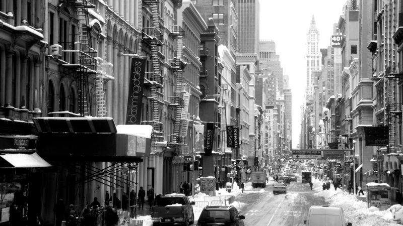 Winter in New York black & white,  United States - Virginie Suys Photo Canvas HD