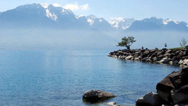 Lake Geneva, Montreux, Switzerland - Virginie Suys Photo Canvas HD