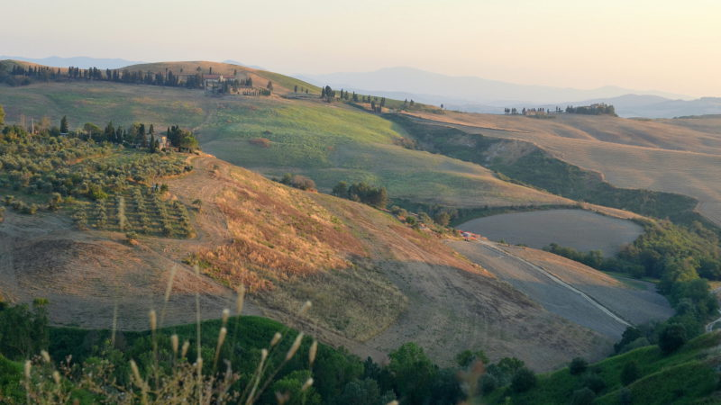 Volterra hills, Italy -Virginie Suys Photo Canvas HD